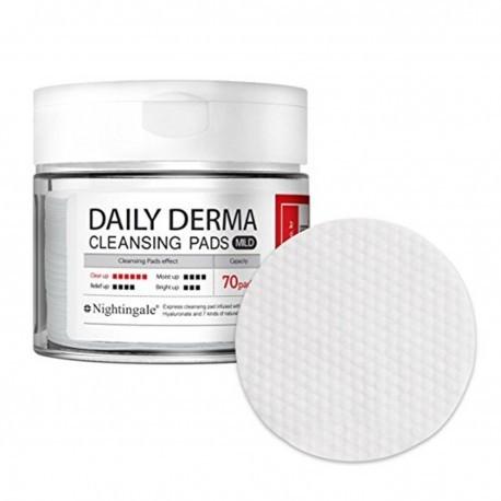 Nightingale daily derma cleansing pads mild очищающие увлажняющие диски фото №1