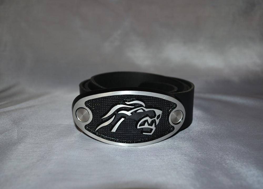 Кожаный ремень street belt.ch, со львом фото №1