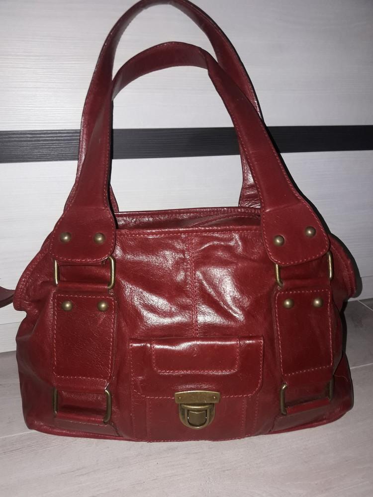 119 сумка натуральная кожа красная varese фото №1
