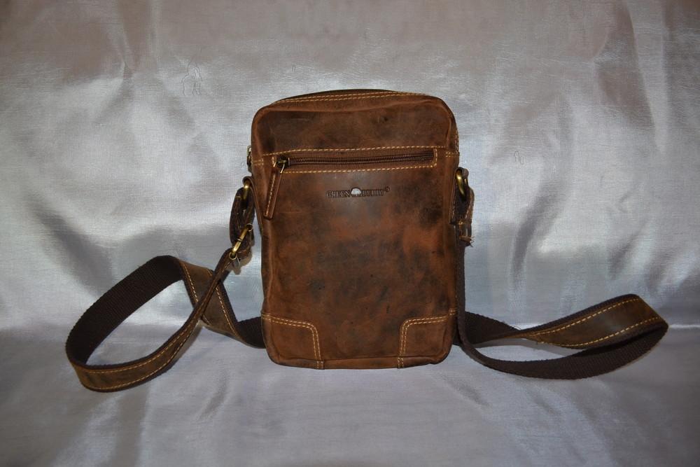 Мужская кожаная сумка green burry, оригинал фото №1
