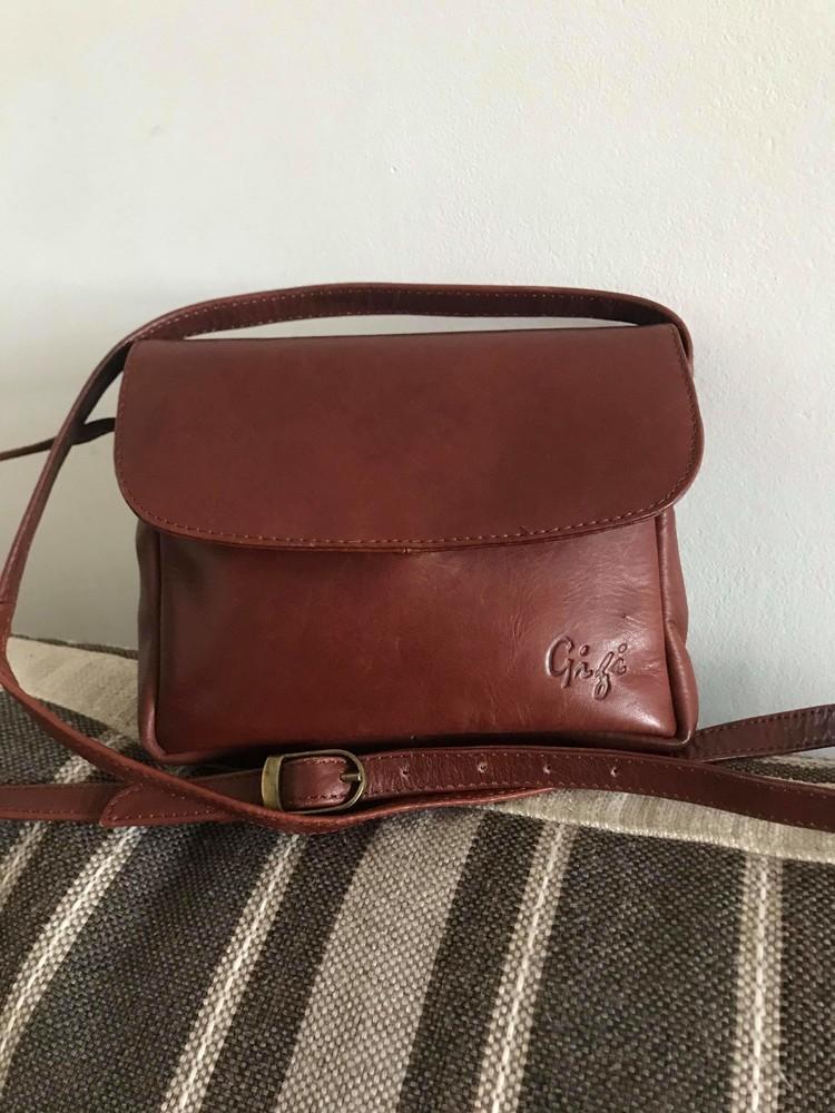 Кожаная сумка кроссбоди gigi фото №1
