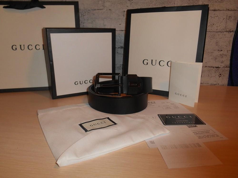 Ремень пояс мужской gucci кожа, италия, оригинал фото №1