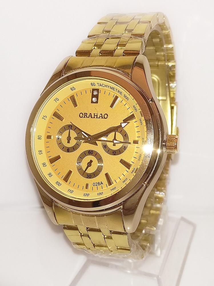 Стильные часы orahao металлический браслет унисекс фото №1