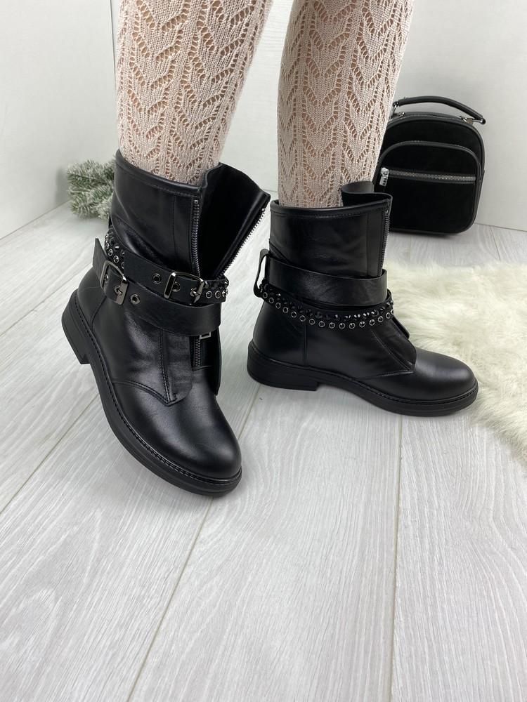 Женские зимние ботинки натуральные фото №1