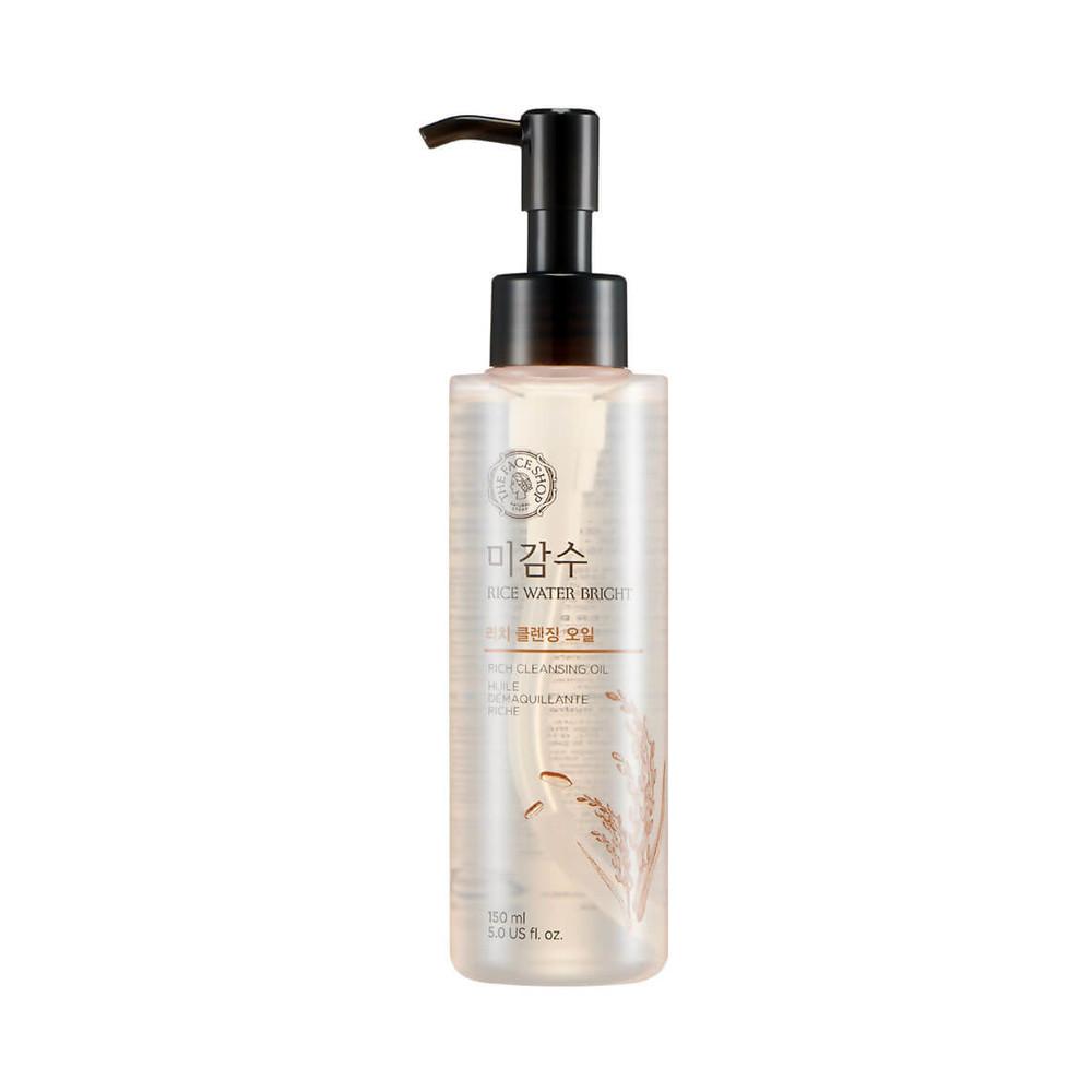 Гидрофильное масло для нормальной и сухой кожи the face shop rice water bright cleansing rich oil фото №1