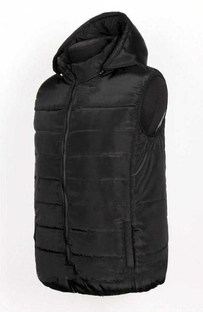 Мужская теплая жилетка с капюшоном, р м-5хл в ассортименте фото №1