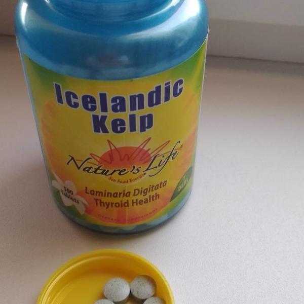 Nature's life, исландская бурая водоросль, 250 таблеток фото №1