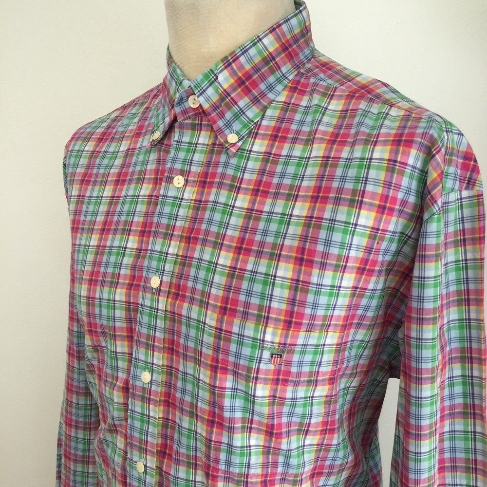 Превосходная рубашка gant manhattan poplin regular fit фото №1