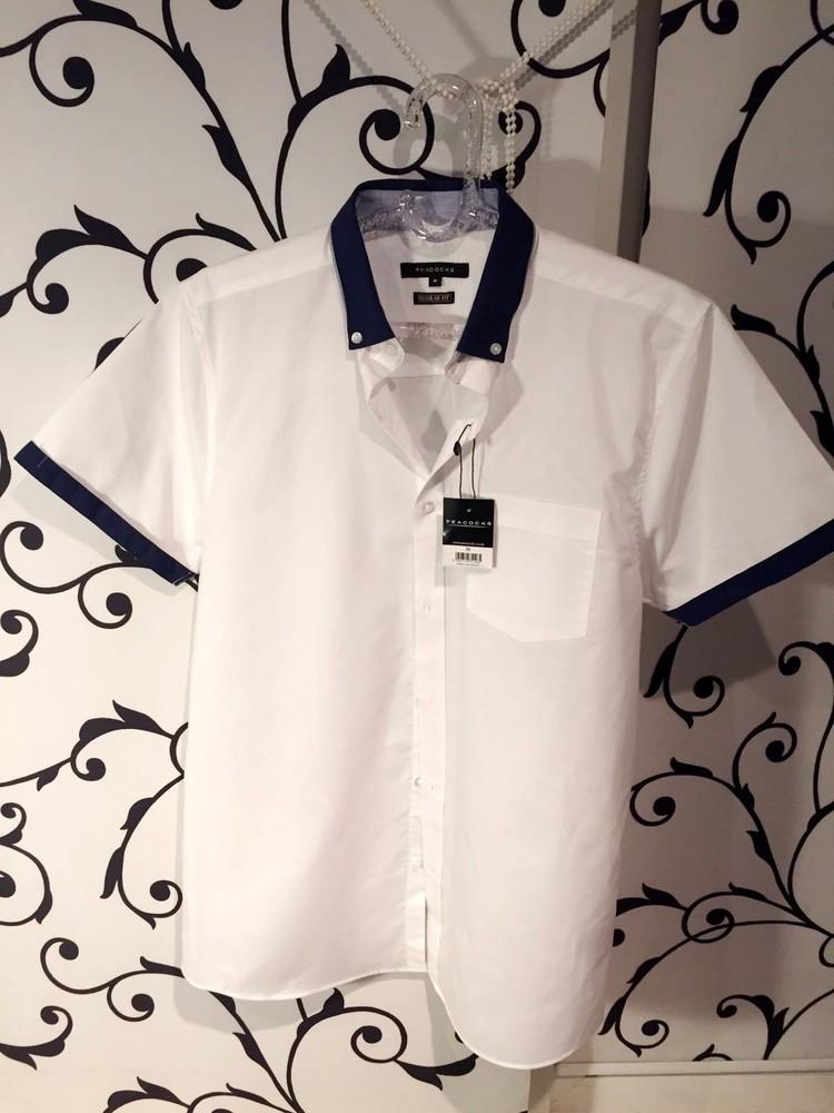 Стильная белая рубашка peacocks фото №1