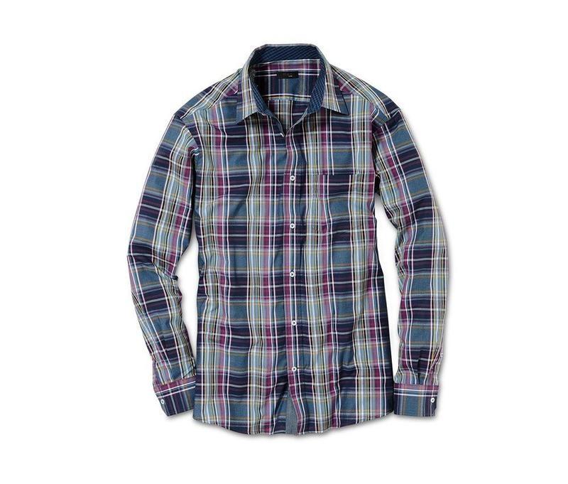 Рубашка мужская в клетку tcm tchibo фото №1