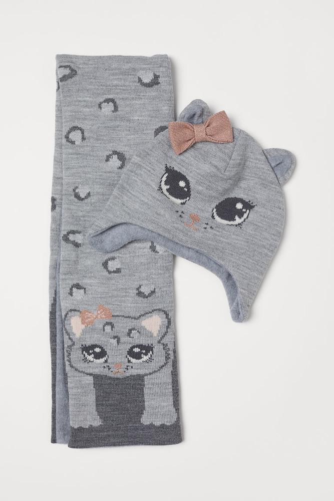 Комплект на девочку шапка и шарф в комплекте h&m фото №1