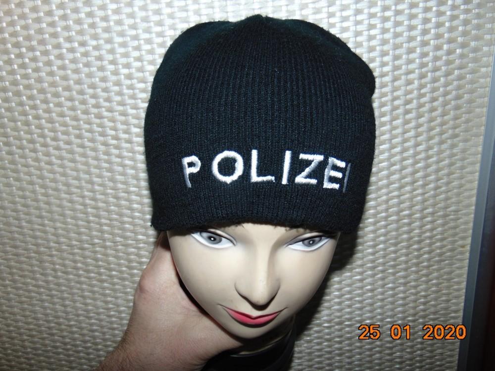 Стильная фирменная зимняя шапочка шапка police.с-м-л фото №1