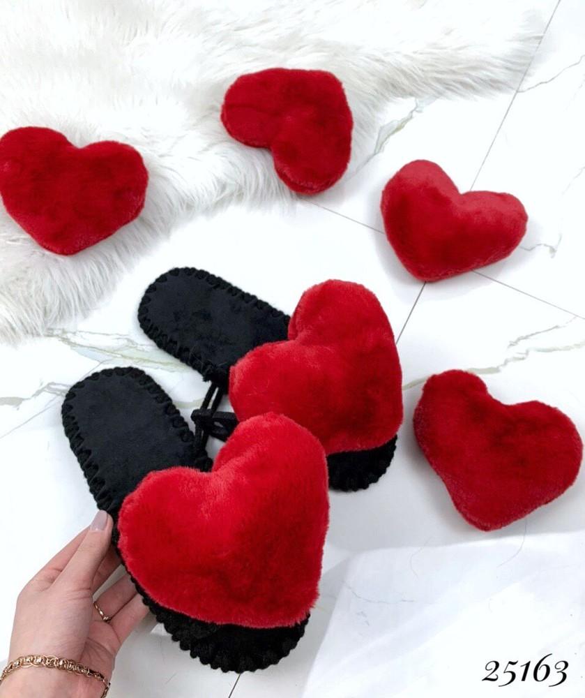 Домашние тапочки сердца фото №1