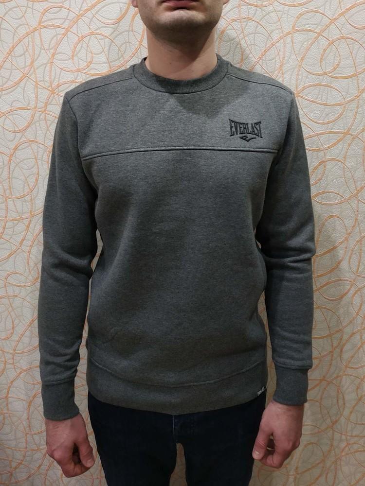Теплый мужской свитер свитшот с флисовым начесом еверласт everlast оригинал фото №1