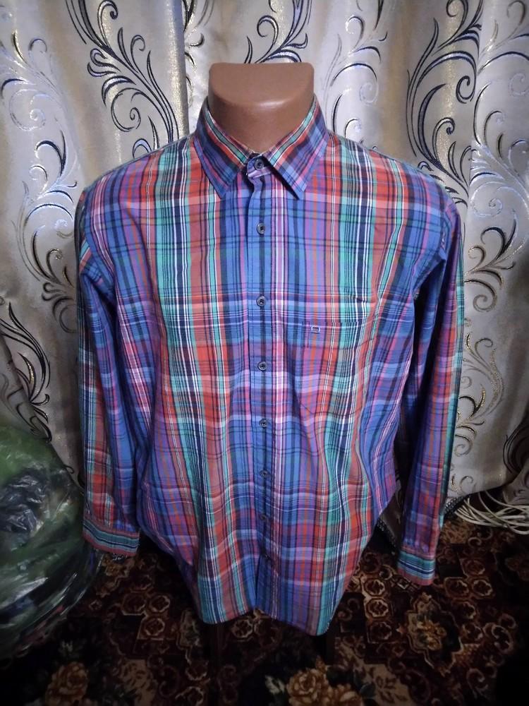 Стильная мужская рубашка в клетку olymp фото №1