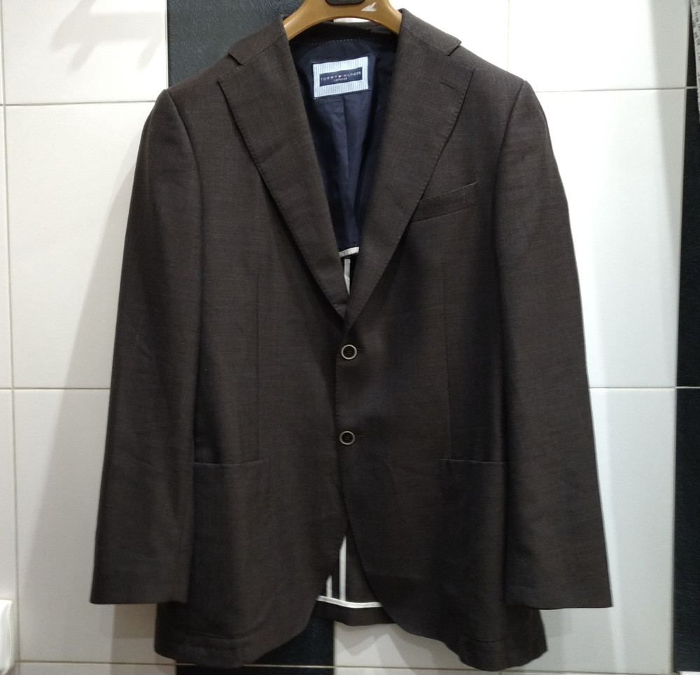 Блейзер (пиджак) tommy helfiger р-р. l-xl (коричневый) фото №1