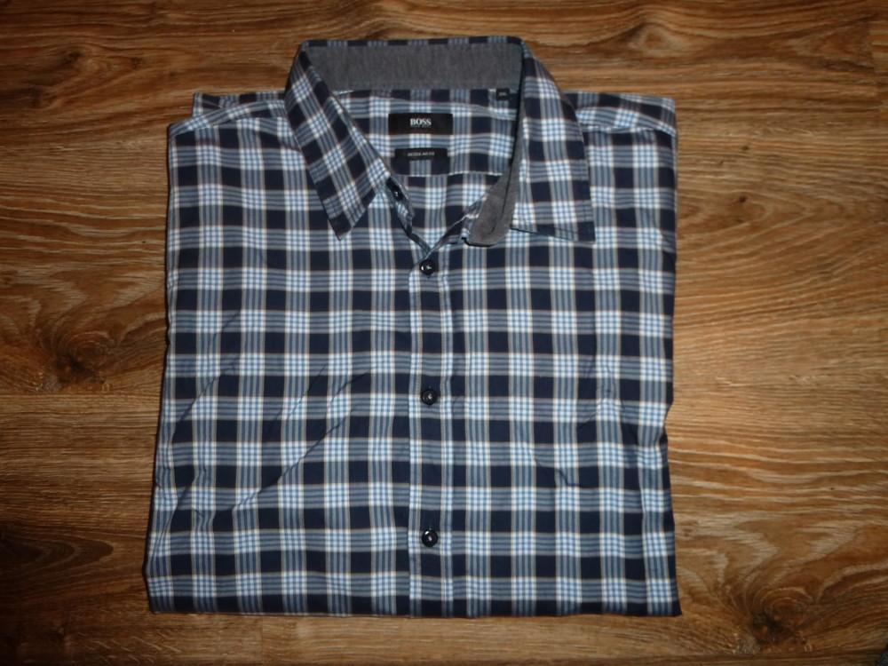Рубашка hugo boss р xxl, оригинал 100% коттон regular fit фото №1