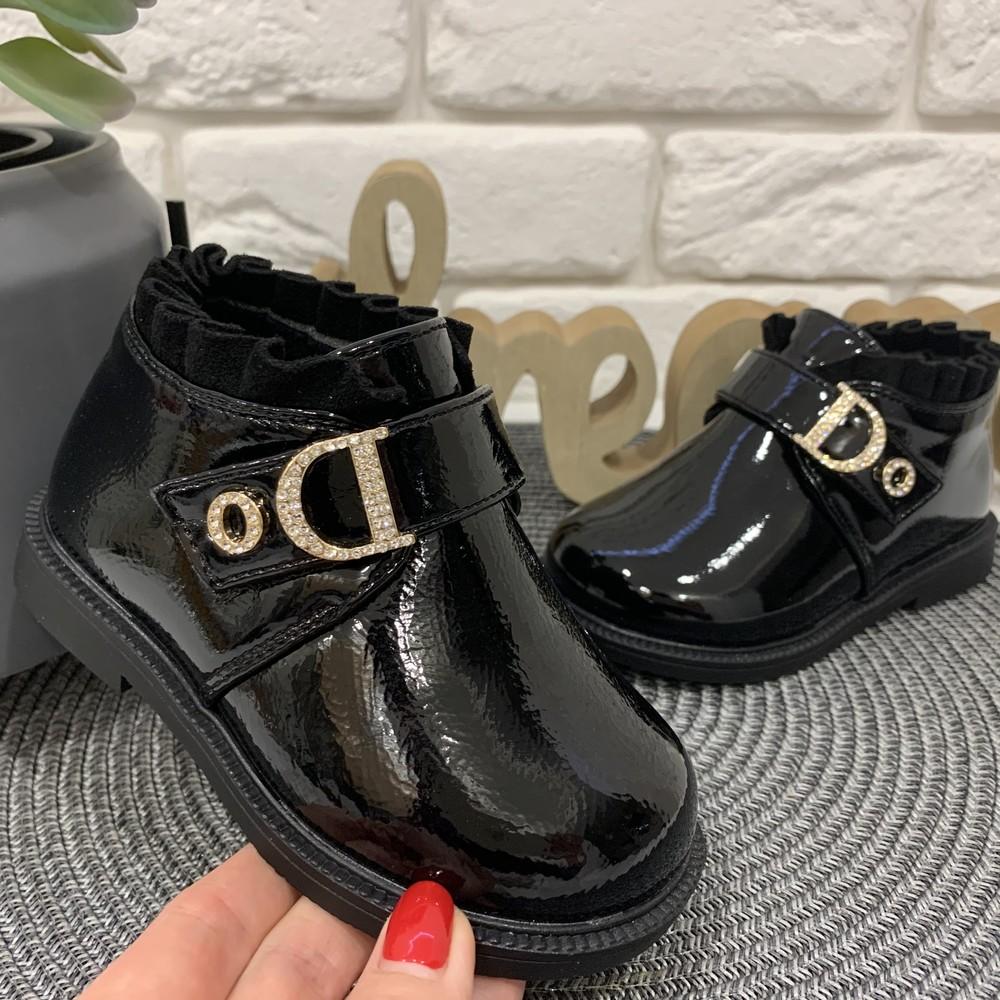 Ботинки демисезонные чёрные для девочки фото №1