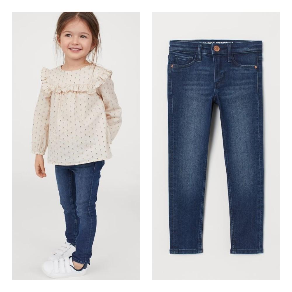 Нові джинси скіні h&m для дівчат розм. 116, 122 і 128 в наявності фото №1