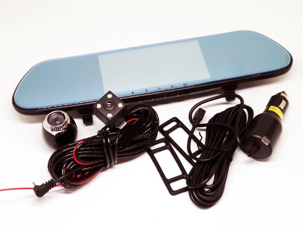 "Dvr v9tp full hd зеркало с видео регистратором с тремя камерами. 5"" сенсорный экран фото №1"