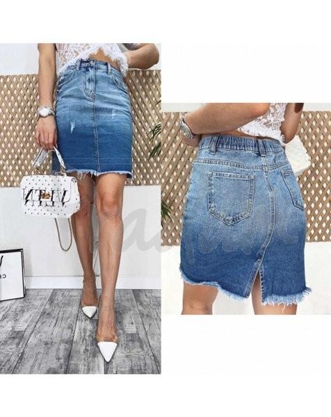 Юбка джинсовая женская 3725 new jeans весенняя р. 25-30 (н) фото №1