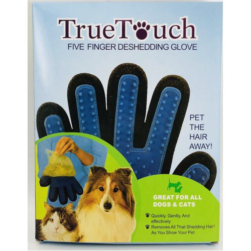 Перчатка для вычесывания шерсти домашних животных true touch фото №1