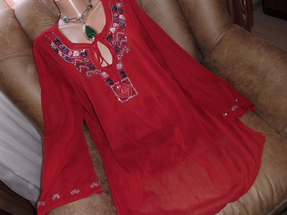 Canda блуза с вышивкой рр 2xl полиэстер фото №1