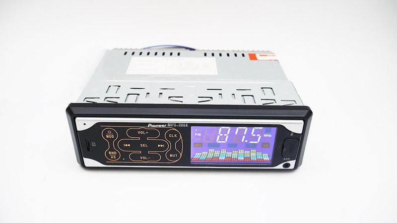 Автомагнитола pioneer 3884 iso - mp3 player, fm, usb, sd, aux сенсорная магнитола фото №1