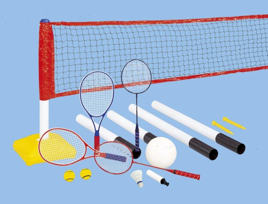 Набор 3 в 1 для бадминтона, воллейбола и тенниса outdoor-play jc-238a фото №1