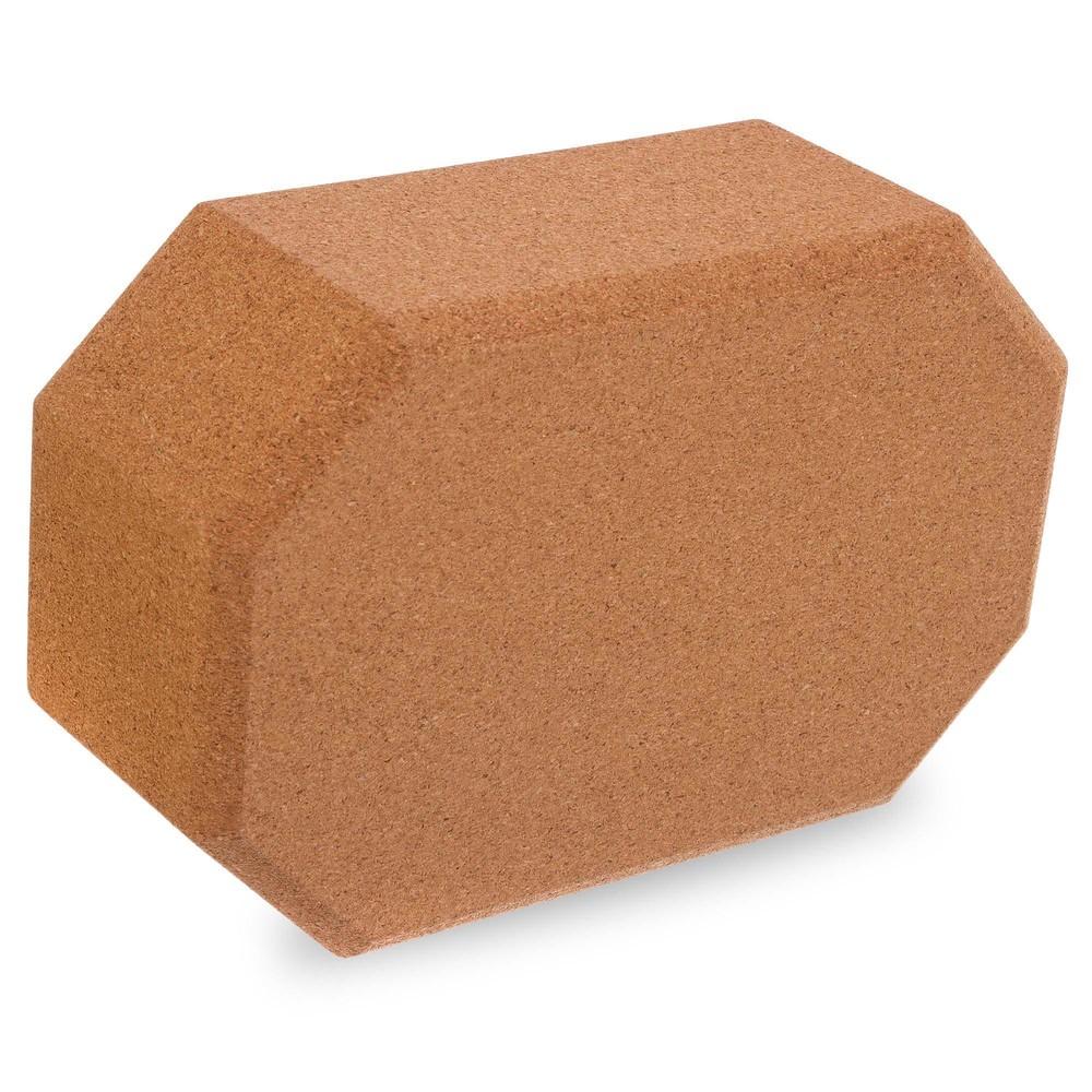 Йога блок пробковый 1567 (блок для йоги пробковый): размер 23x15x8см, вес 700г фото №1