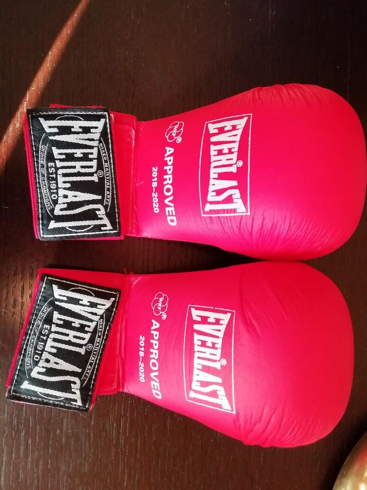 Накладки на руки для карате wkf детские everlast размер m фото №1