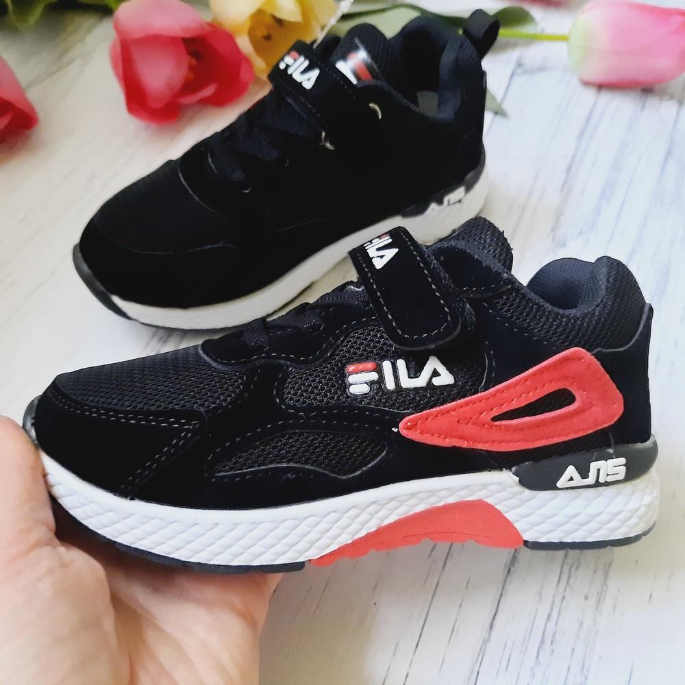 Детские кроссовки черные с сеточкой 32,33 размеры фото №1