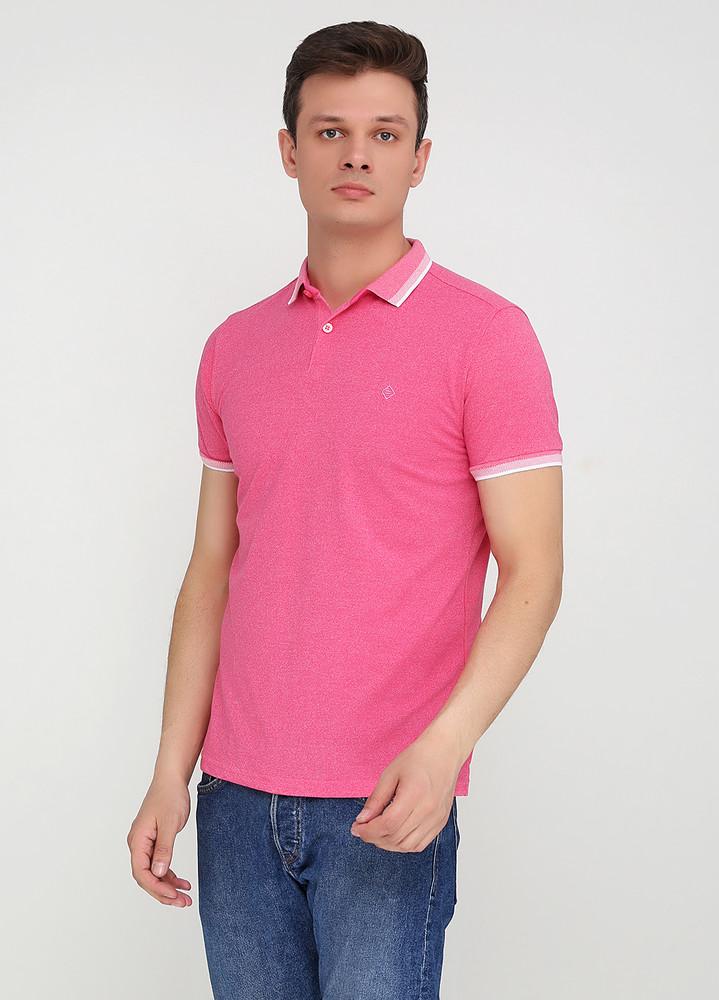 Розовая футболка-поло для мужчин primark с фото №1
