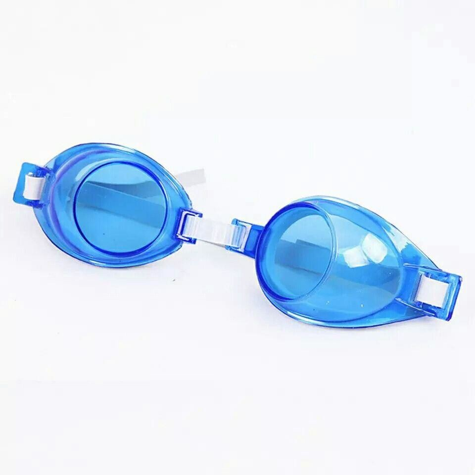 Детские подростковые очки для плавания синие унисекс фото №1