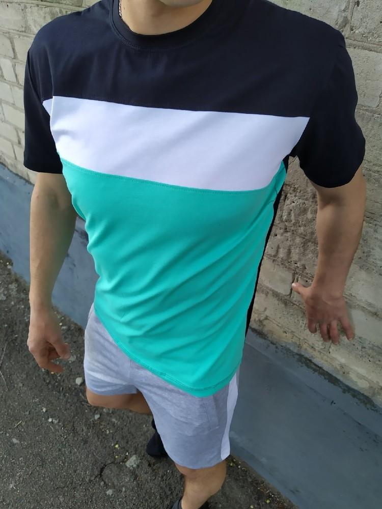 Мужской летний комплект шорты и футболка фото №1
