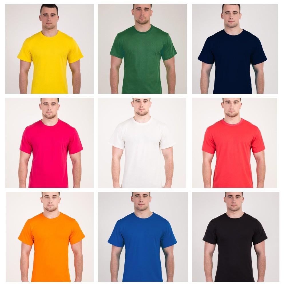 Футболки мужские из хлопка любых цветов и размеров фото №1