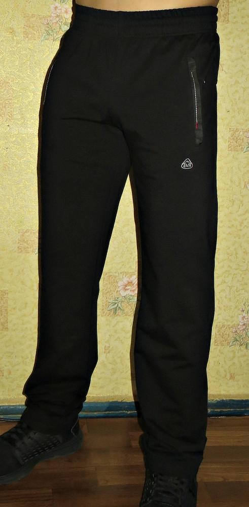 Спортивные летние штаны everest черные, синие прямые. фото №1