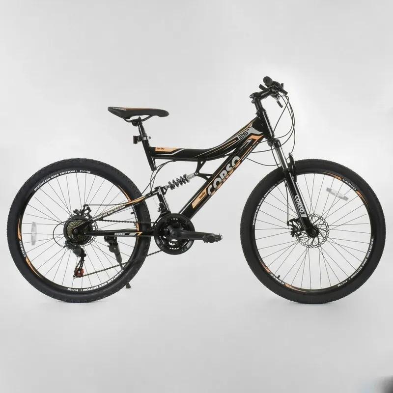 Горный двухподвесной велосипед corso turbo 26 ( 16 рама) фото №1