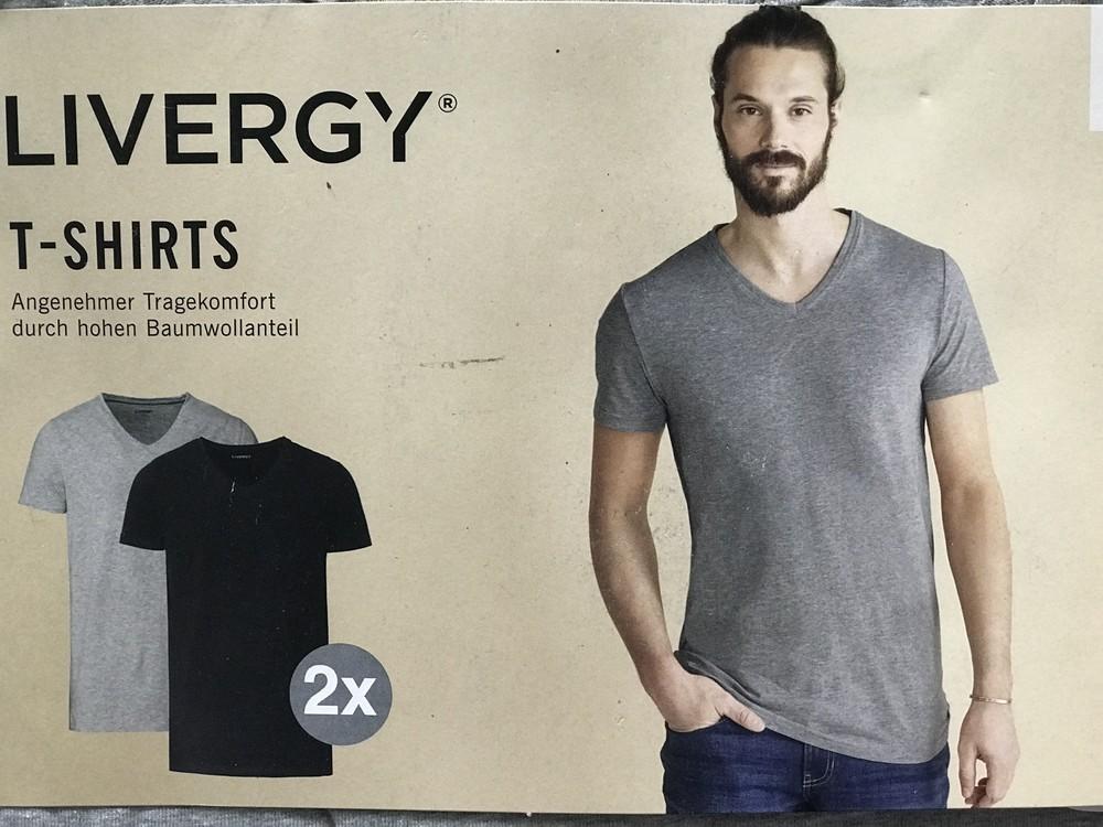 2 шт. модная футболка livergy. германия. 2xl фото №1