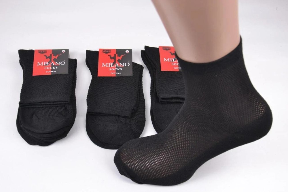 Шкарпетки чоловічі milano, сітка, бавовна (еп-me11201) фото №1