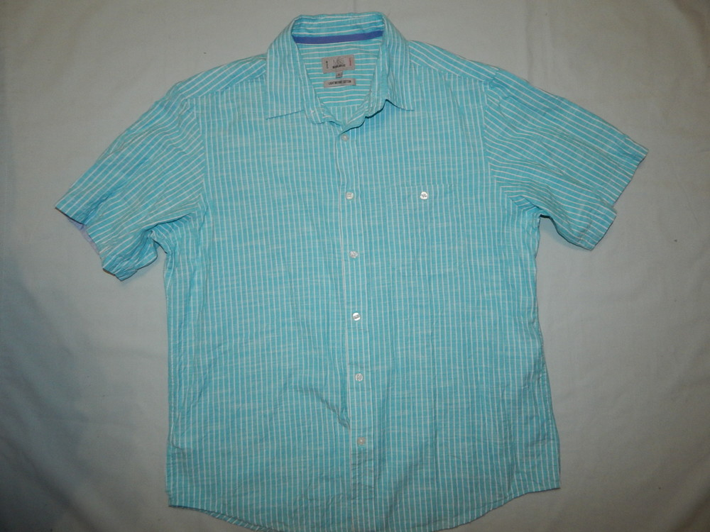 Marks&spencer рубашка мужская лёгкая летняя котоновая рl фото №1