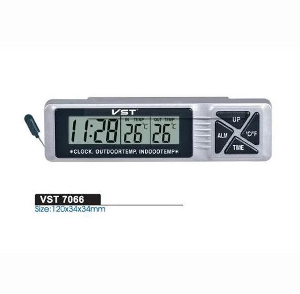 Автомобильные часы с термометром vst-7066 фото №1