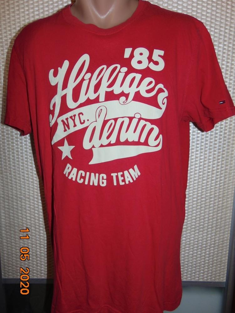 Катоновая брендовая футболка tommy hilfiger.м -л. фото №1
