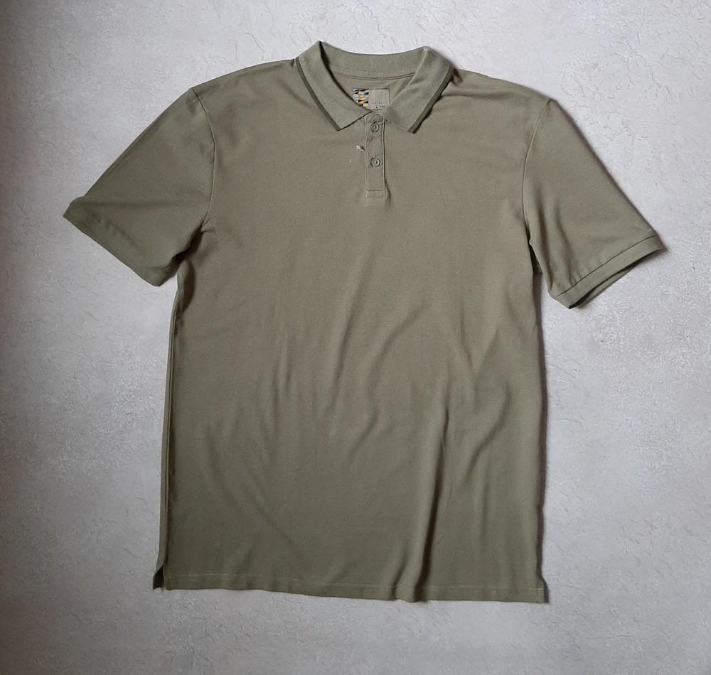 Мужская футболка в стиле поло, футболка с воротником фото №1