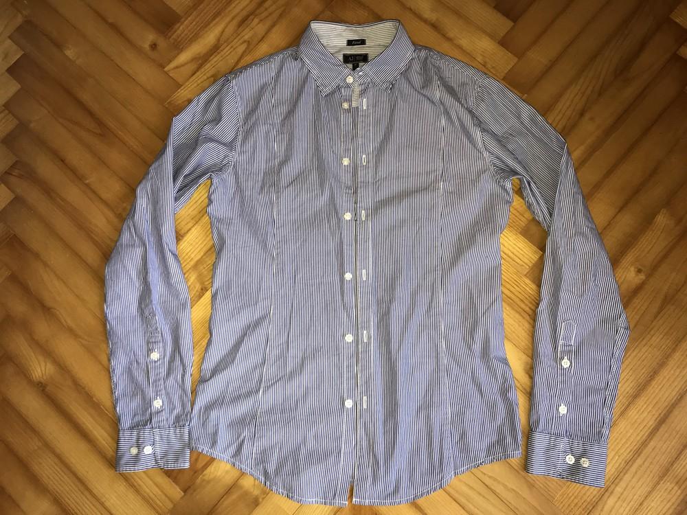 Armani jeans-хлопковая приталенная рубашка! р.-m фото №1