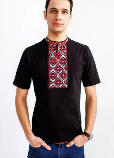 Чоловіча футболка козацька червоно-сіра фото №1
