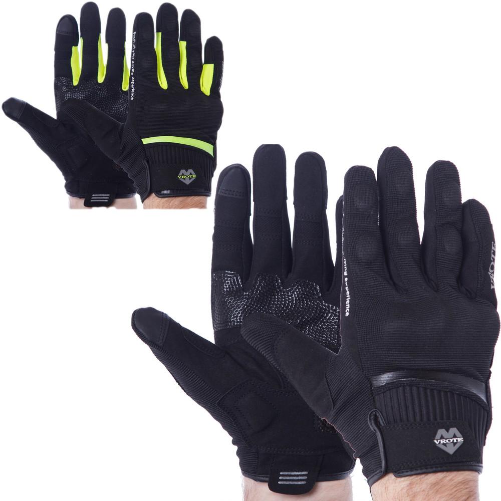 Мотоперчатки текстильные с закрытыми пальцами и протектором vrote v001: размер s-2xl (2 цвета) фото №1