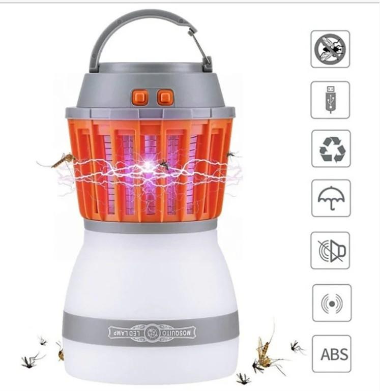 Знищувач комарів ліхтар sunroz killer lamp m4 ip67 2в1 водонепроникний фото №1