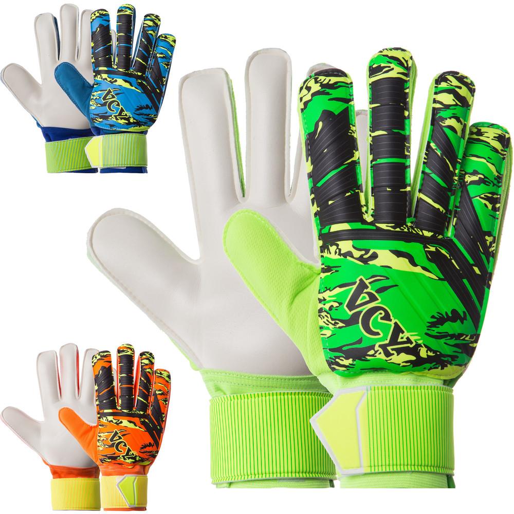 Перчатки вратарские юниорские с защитными вставками на пальцах premier league fb-931b: размер 5-7 фото №1
