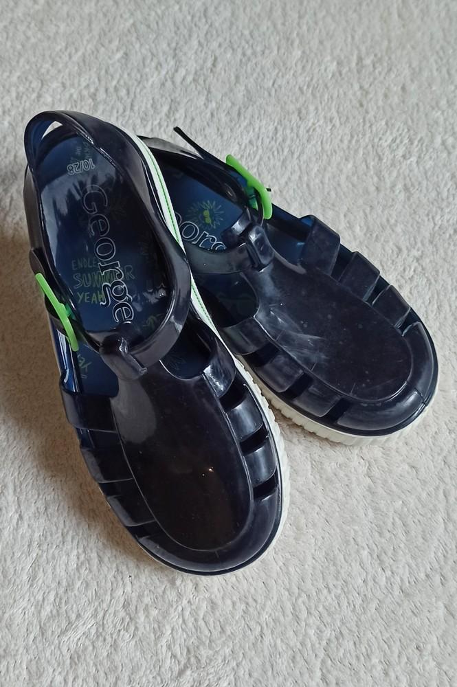 Силиконовые сандали босоножки от george, 27/28 размер. фото №1